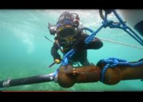 Hydrolienne Sabella D10, pose du câble sous-marin