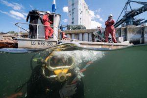 Tetis inspection pour poses d'anodes quai Lorient